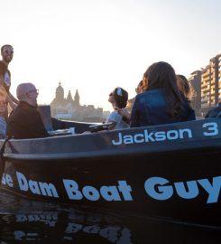 Privé rondvaart op de Amsterdamse grachten met ThosedamboatGuys